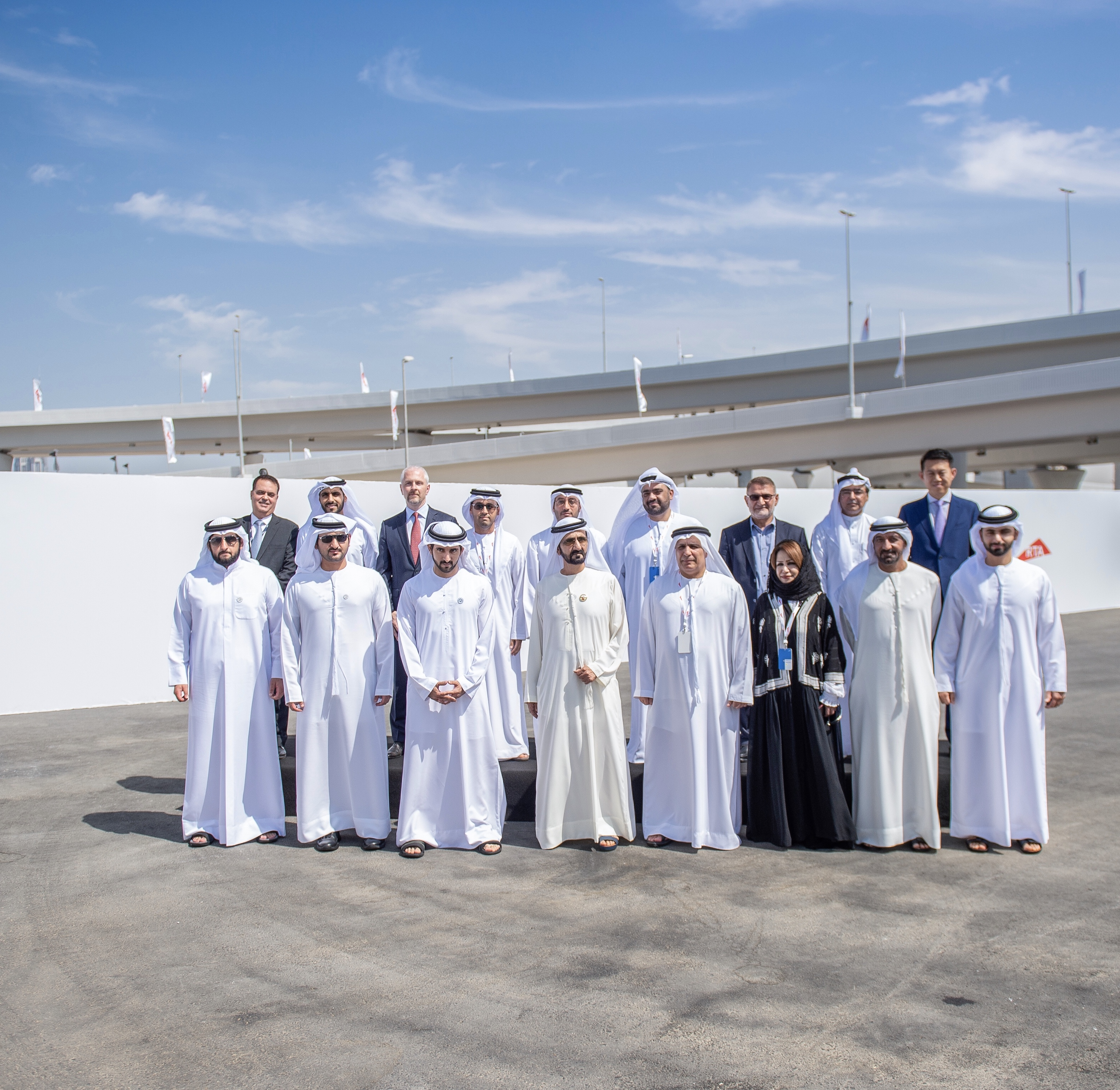 Mohammed bin Rashid reviews progress of work on Route 2020 Stations