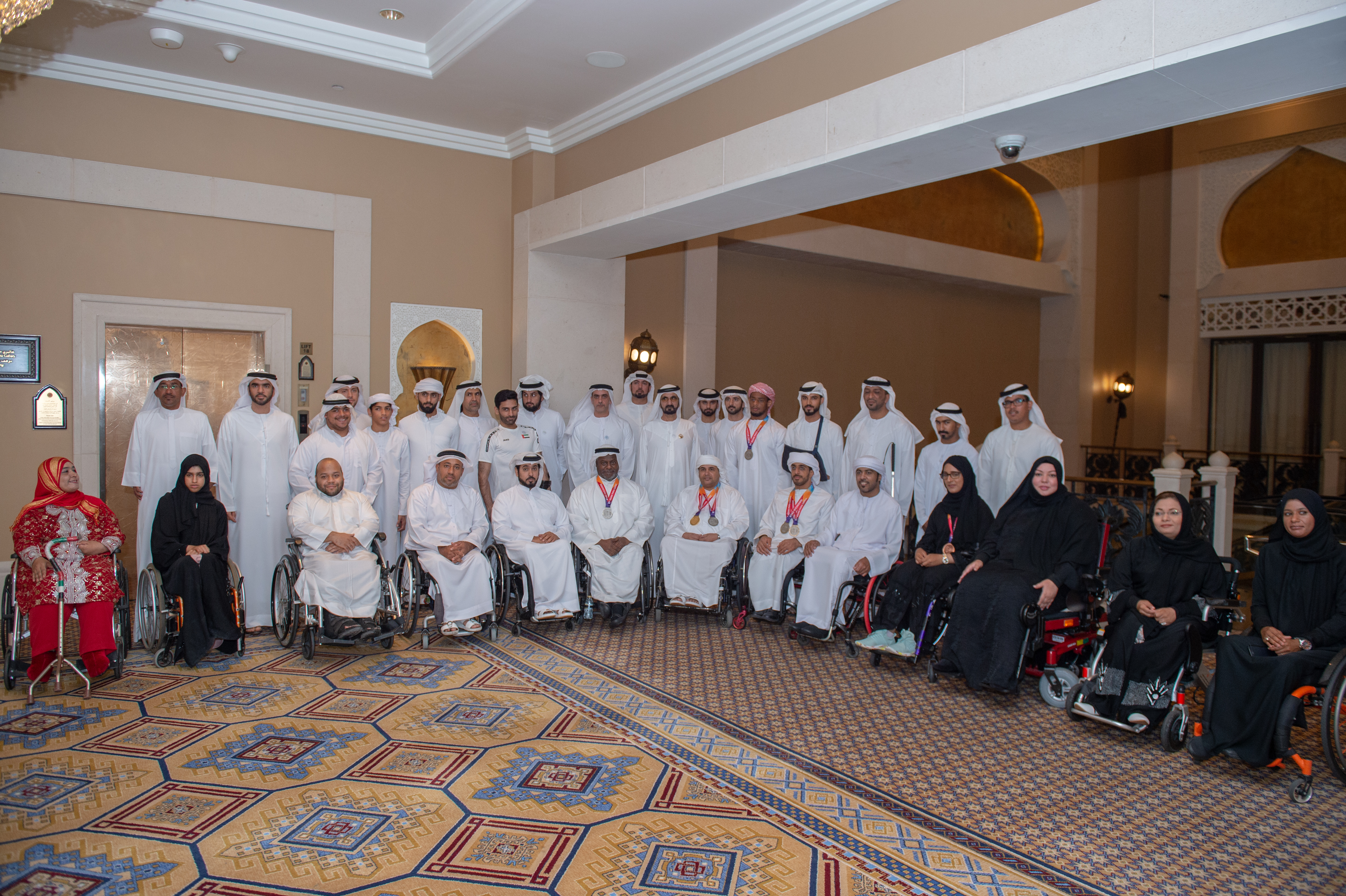 Mohmmed bin Rashid receives UAE Paralympics team